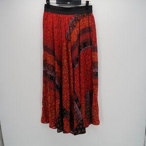 Carole Little Elastic Waist Patchwork Maxi Skirt